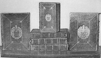 Samuel_Pepys_diary_manuscript_volumes330px
