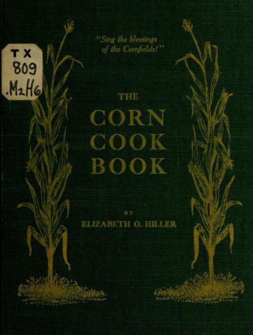 corn cook book vintage