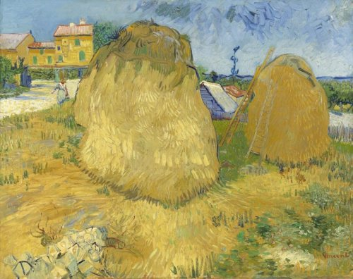 Van Gogh, Haystacks in Provence, June 1888. Oil on canvas, 73 x 92.5 cm. Kröller-Müller Museum, Otterlo.