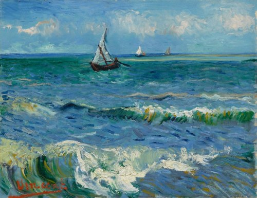 Van Gogh, Seascape near Les Saintes-Maries-de-la-Mer, June 1888. Oil on canvas, 50.5 x 64.3 cm. Van Gogh Museum, Amsterdam