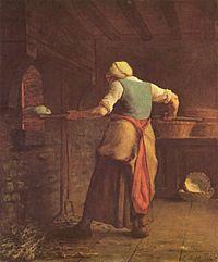 baking bread Jean-François_Millet_1854 Kroller-Muller Museum