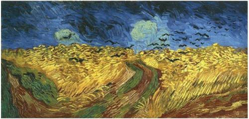 Wheat-Field-with-Crows Vincent van Gogh July 1890 last