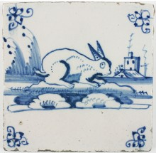 delft-tile-with-a-rabbit-18th-century