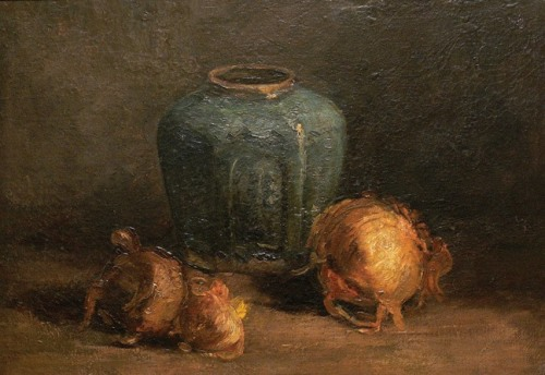 Van Gogh, Still Life With Ginger Jar and Onions, September 1885. Oil on canvas, 39.3 x 49.6 cm. McMaster Museum of Art, Hamilton, Ontario.